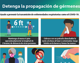 Stop the spread pamphlet in Spanish